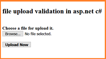 file upload validation in asp.net c#